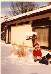 Foto: Martina und Mathias im Schnee
